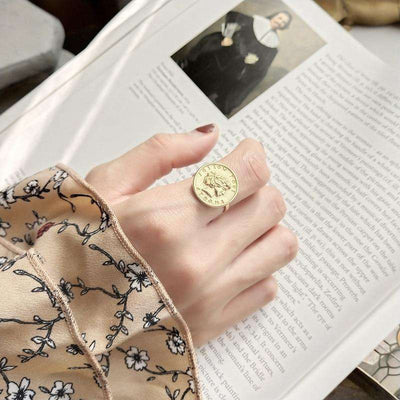 Sandie Coin 925 Sterling Silver Ring