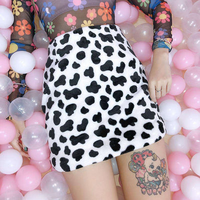 Zoalla Cow Mini Skirt