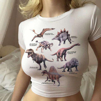 Dino Gurl Crop Top