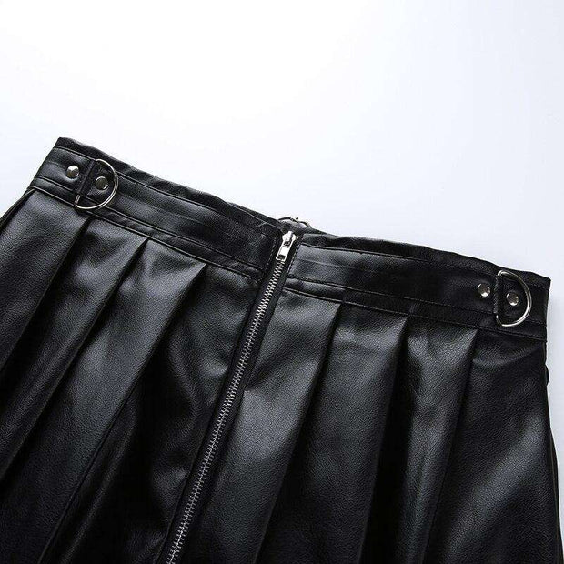 Tori  Pu Leather Skirt