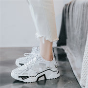 Nero White Lace Sneakers