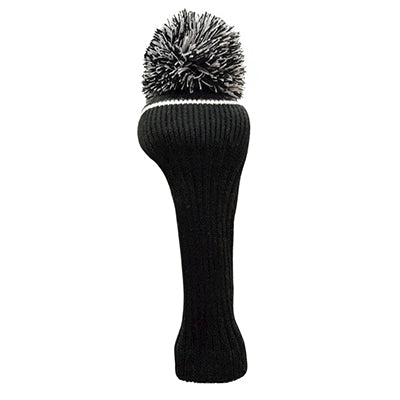 Pom Pom Golf Club Driver Head Cover Black