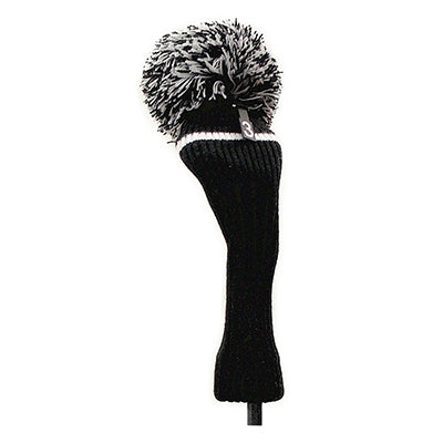 Pom Pom Golf Club Hybrid Fairway Wood Head Cover Black