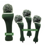 Pom Pom Golf Club Head Cover Set Green