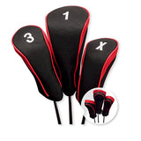 Hi Tech Contour Golf Club Head Cover Set Red