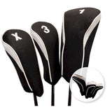 Hi Tech Contour Golf Club Head Cover Set White