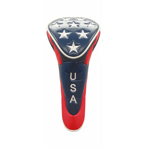 USA Patriot Stars Synthetic Leather Driver Golf Head Cover