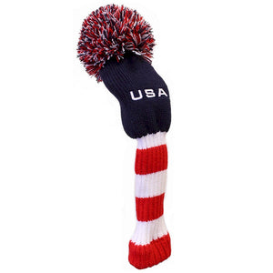 USA Stripes Pom Pom Golf Club Head Cover