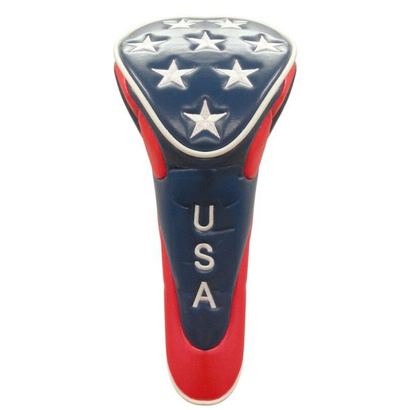 USA Golf Head Cover with Stars - Driver with Zipper Closure
