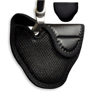 Deluxe Heal Shafted Mallet Style Putter Head Cover Black