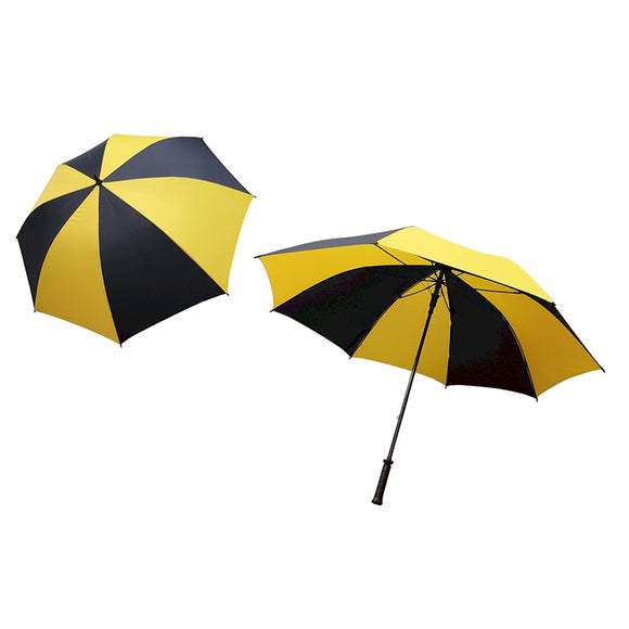 Single Canopy Auto Open Player Supreme Golf Umbrella Yellow and Blue