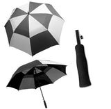 StormMaster Auto Open Double Canopy Umbrella Black and Grey