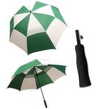 StormMaster Auto Open Double Canopy Umbrella Green and White