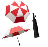 StormMaster Auto Open Double Canopy Umbrella Red and White