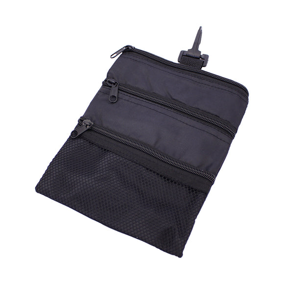 Golf Multi Pocket Tote Hand Bag Black