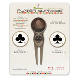 Divot Tool and Ball Marker Ace of Clubs