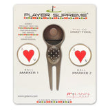 Divot Tool and Ball Marker Ace of Hearts