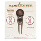Divot Tool and Ball Marker Pink Ribbon