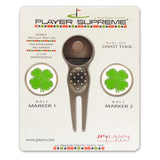 Divot Tool and Ball Marker Four Leaf Clover