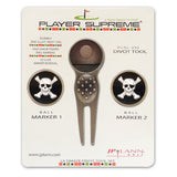 Divot Tool and Ball Marker Skull and Bones