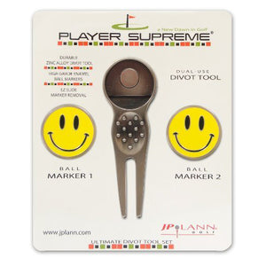 Divot Tool and Ball Marker Smiley Face