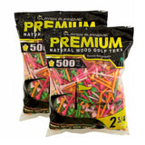 "PREMIUM NEON MIX Golf Tees - 1000 Tee Box (2 3/4"" - 3 1/4"")"