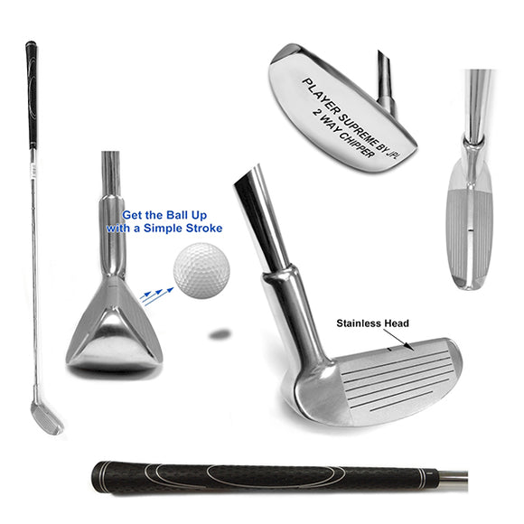 Player Supreme Stainless Steel Two Way Ball Golf Chipper