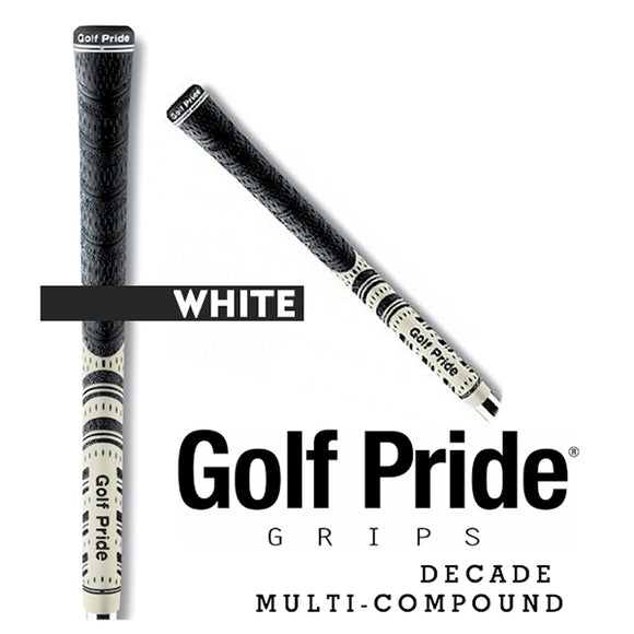 Golf Pride Decade Multi Compound Grip Standard White