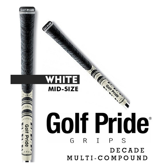 Golf Pride Decade Multi Compound Grip Mid Size White