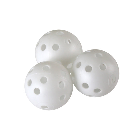 White Perforated Practice Golf Balls 12 Count