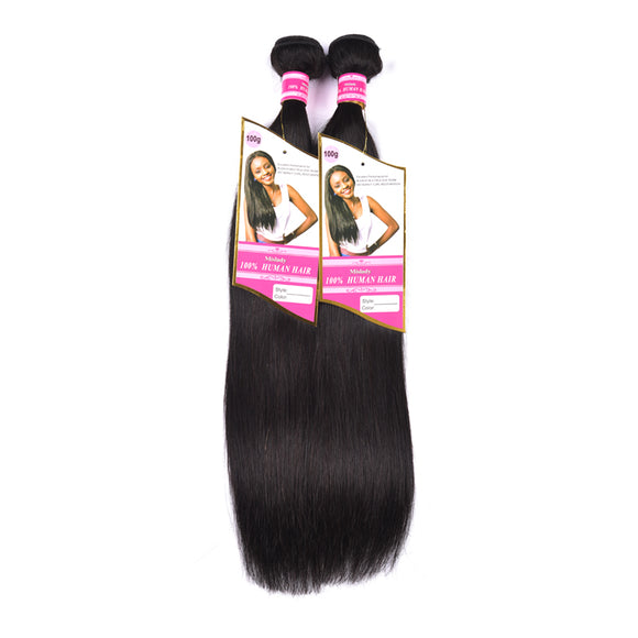 8A Remy Hair Natural Black Straight