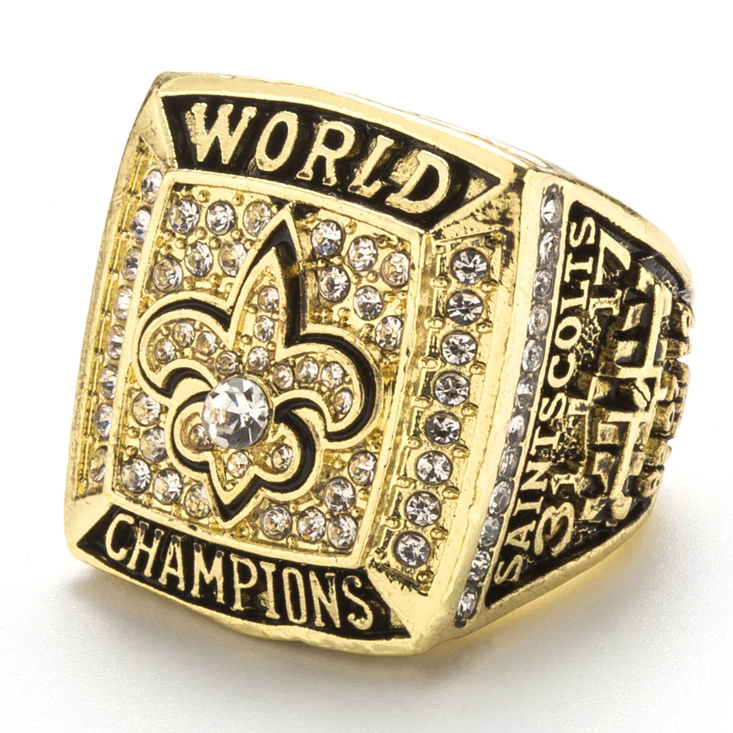 bowl nfl super championship orleans ring products xliv world rings new saints