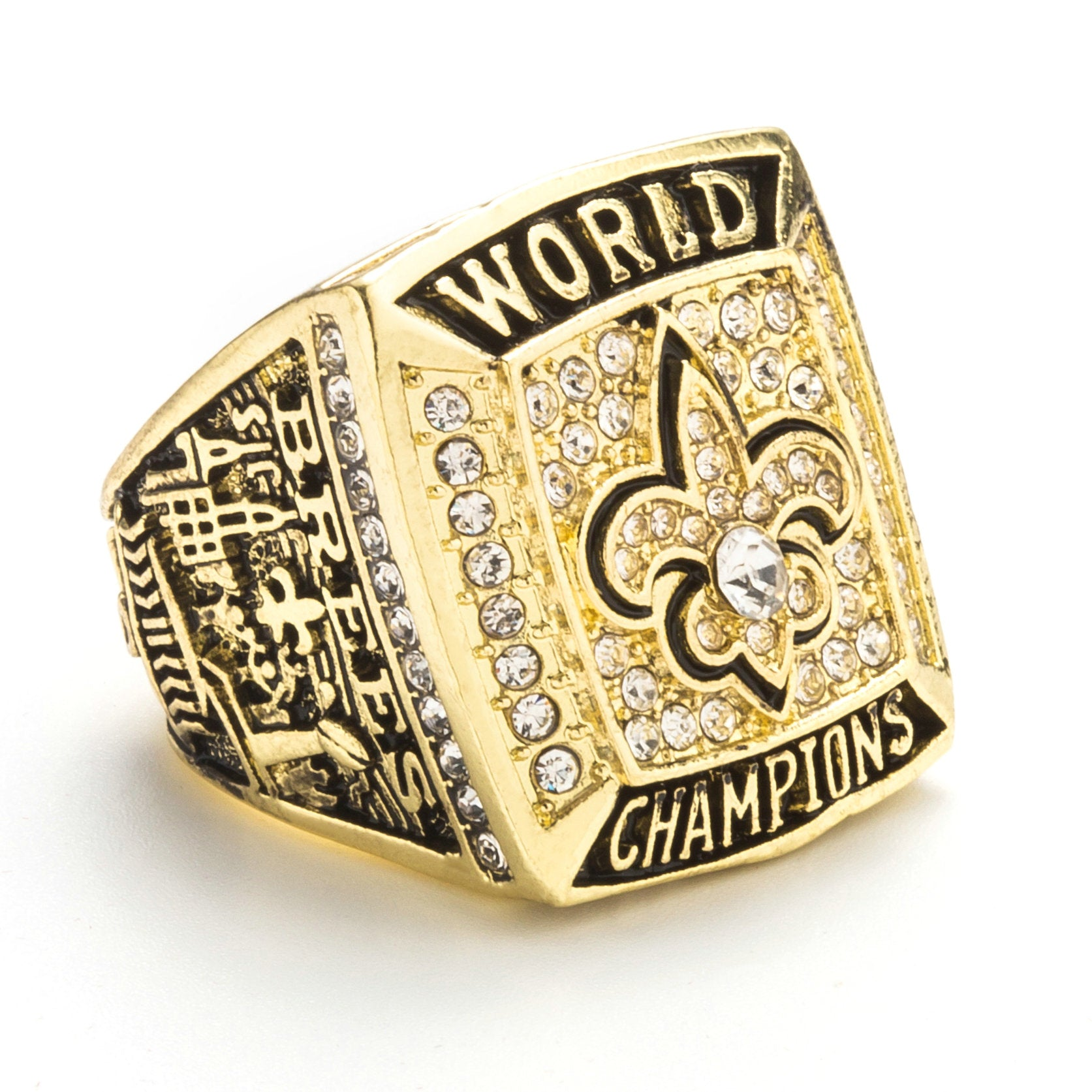 saints new xliv super bowl nfl rings world ring orleans championship products