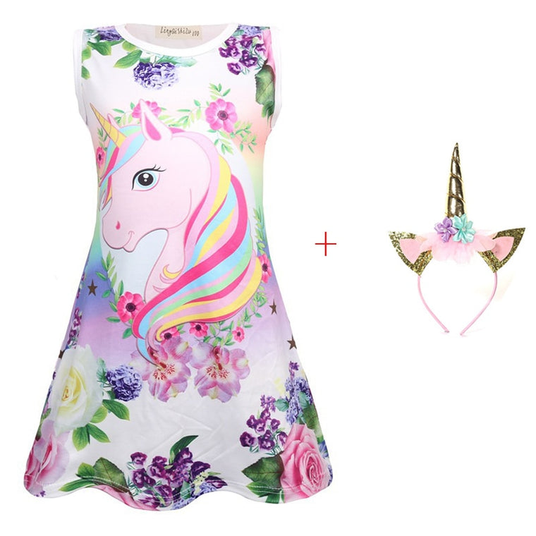 Baby Girl: Unicorn Baby Garment