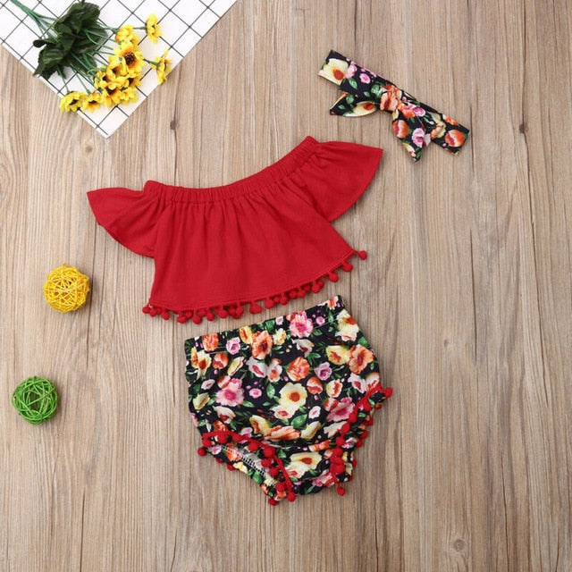 Baby Girl: Flower Piece Summer Clothes