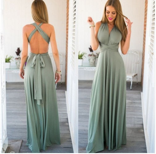 Dress: Floor Length Maxi Dress