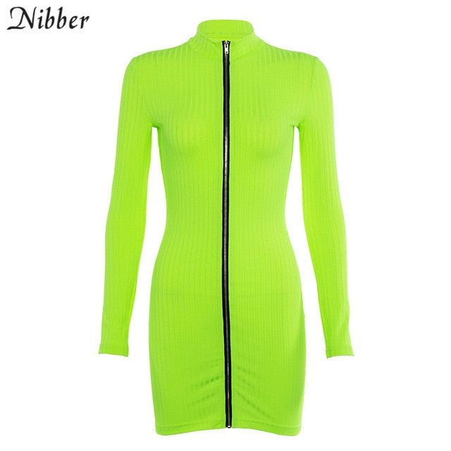 Dress: Neon Mini Bodycon Dress