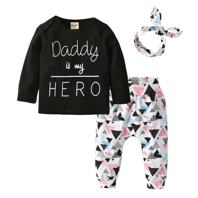 Baby Girl: Daddy is My Hero Garment