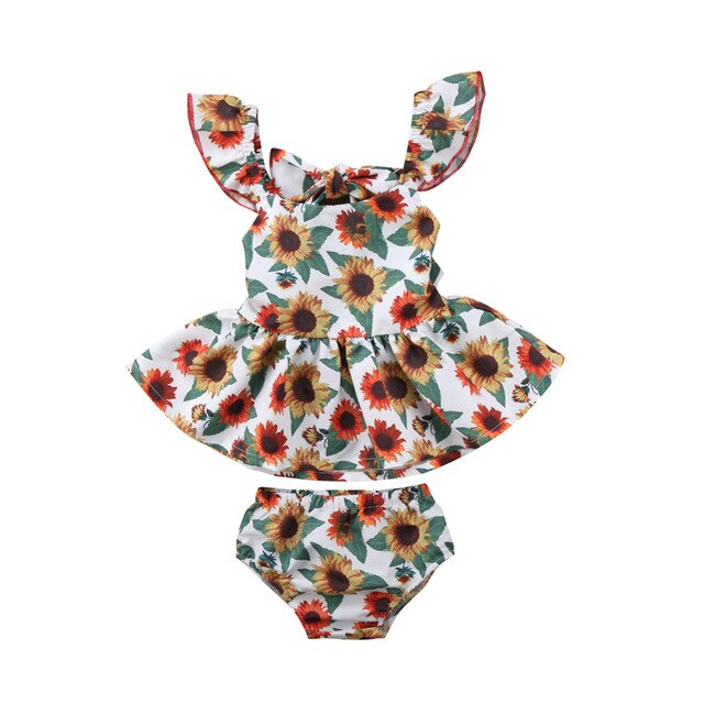 Baby Girl: Sunflower Summer Ensemble