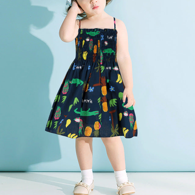 Baby Girl: Sleeveless Summer Print Garment