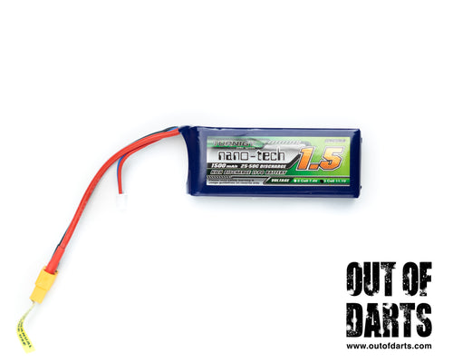 Turnigy Nano-Tech 3s 1500mAh 25-50c LiPO pack (XT-60 connector)