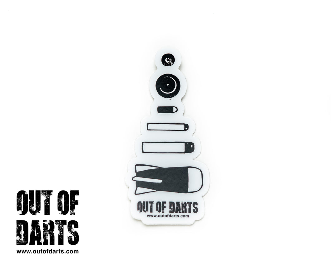 Out of Darts Ammo Sticker