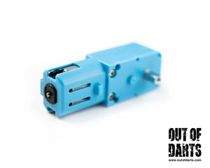 Blue Half-Metal Gear 3-6V Single Axis Motor (works on 12v for light duty) 1:90