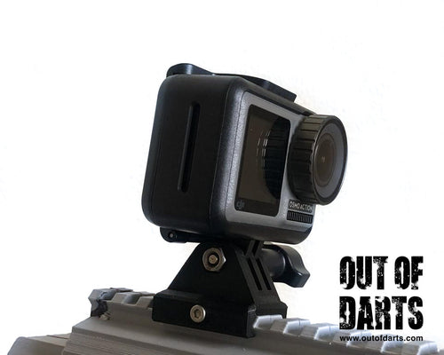 GoPro Picatinny Rail Mount 3D printed