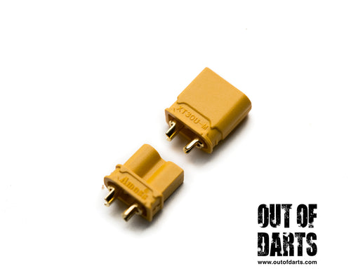 Nerf mod XT-30 Connector Nylon Male/Female pair (Smaller connector) - Out of Darts