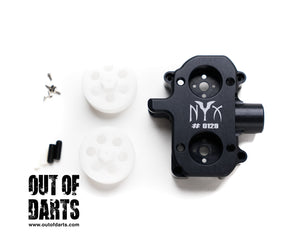 Nerf mod NYX Flywheel Cage and Wheel Set by Lord Drac - Out of Darts
