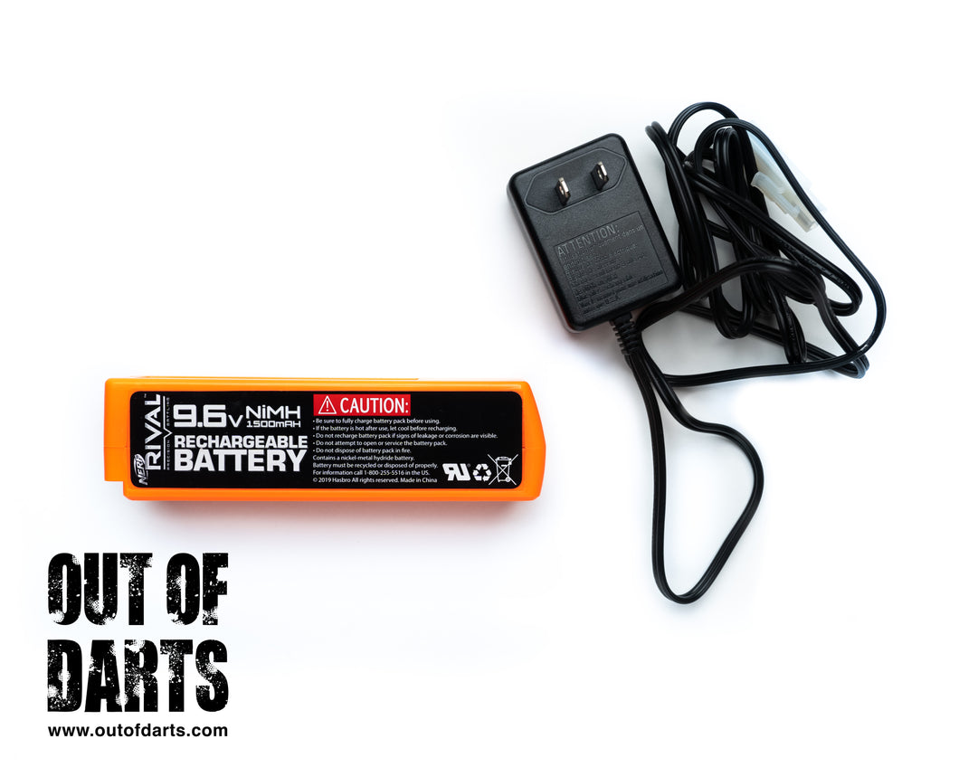 Nerf Rival Perses Stock 9.6v Battery + Charger