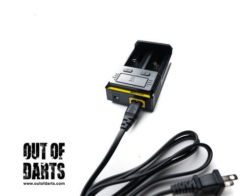 Nerf mod IMR Charger new i2 Nitecore Dual-Bay Charger (High quality IMR charger) - Out of Darts