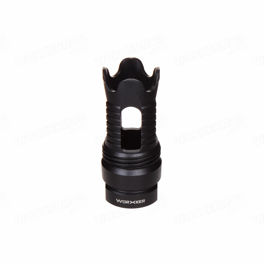 Worker Phantom Style Muzzle / Flash Hider (Threaded Connector)