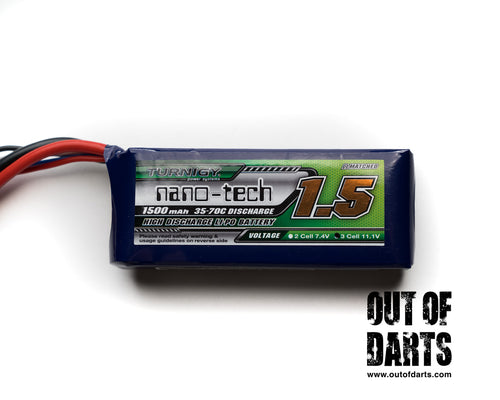 Nerf mod Turnigy Nano-Tech 3s 1500mAh 35-70c LiPO pack (XT-60 connector) - Out of Darts